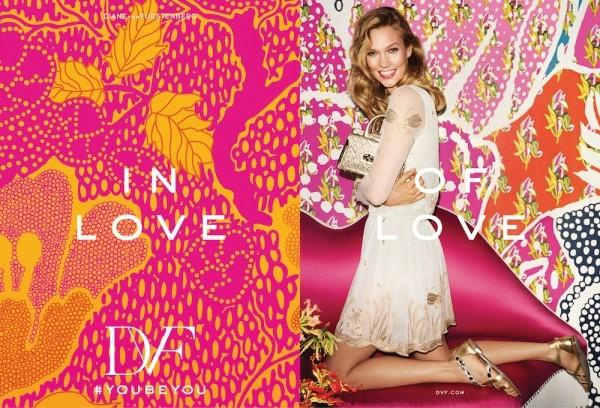 Karlie Kloss Fronts Diane Von Furstenberg Spring Summer 2016 Ad Campaign2