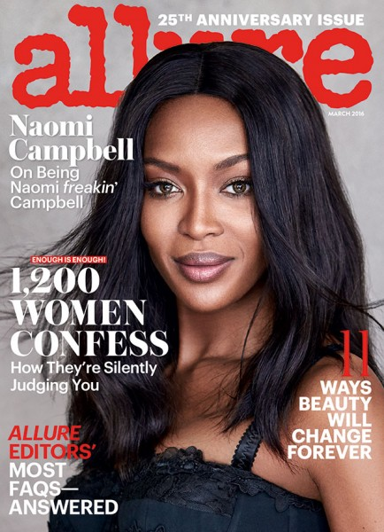 Legendary Fashion Model Naomi Campbell Covers The March 2016 Issue Of Allure Magazine 3
