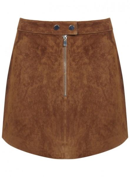Miss Selffride Suede Mini Skirt