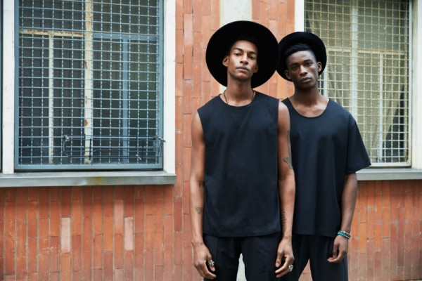 Models Ty Ogunkoya & Harry Uzoka For David Naman's Spring Summer 2016 Collection 1