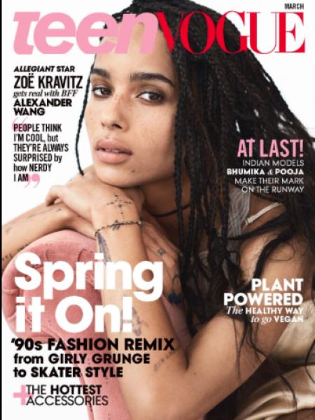 Zoe Kravitz Covers Teen Vogue's March 2016 8