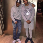 NFL Style: Victor Cruz Wears A Givenchy Cuban Rottweiler Needle Punch Sweater & Leggings With Shorts