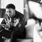 Diggy Simmons Spotted In An Alexander McQueen Embroidered Silk Bomber Jacket