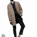 Model Hamid Onifade For T: The NYTimes Style Magazine; Styles In Bally, Ermenegildo Zegna & Tod's