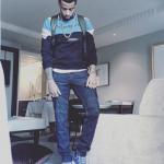 Trey Burke Wears A Pair Of Giuseppe Zanotti Blue Croc-Embossed High-Top London Sombry Sneakers