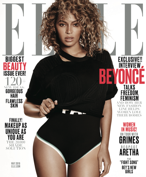 Beyoncé Covers Elle Magazine's 'Women In Music' May 2016 Issue1