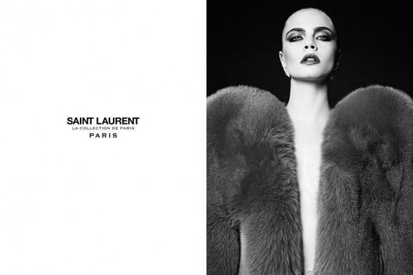 Cara Delevingne Fronts Hedi Slimane's Saint Laurent's 'La Collection de Paris' Ad Campaign 3