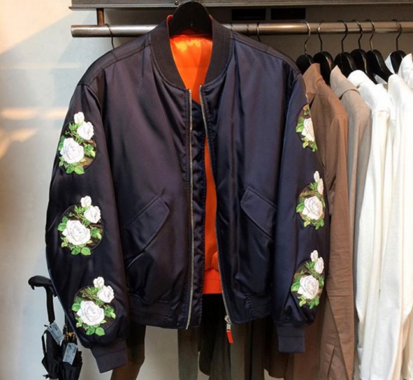 Dior Homme Floral Patch Embroidered Jacket
