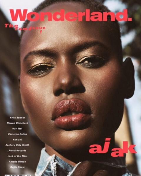 Fashion Model Ajak Deng For Wonderland Magazine's March 2016 Issue 1
