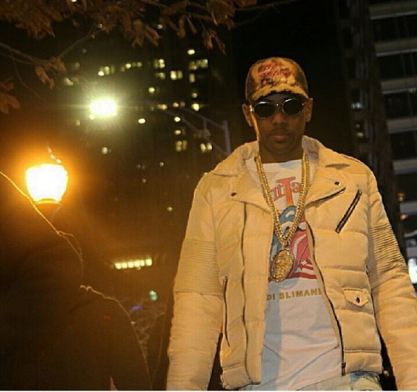 100% quality reliable reputation how to choose Rapper Fabolous Rocks An Arctic Premium Biker Puffer Jacket ...