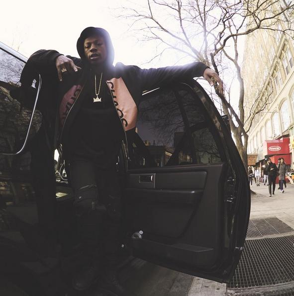 Joey Bada$$ Wears A MCQ Alexander McQueen 'Chaos' Bomber Jacket 2