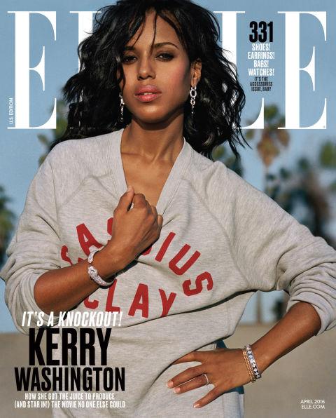 Kerry Washington Covers Elle Magazine's April 2016 Issue4