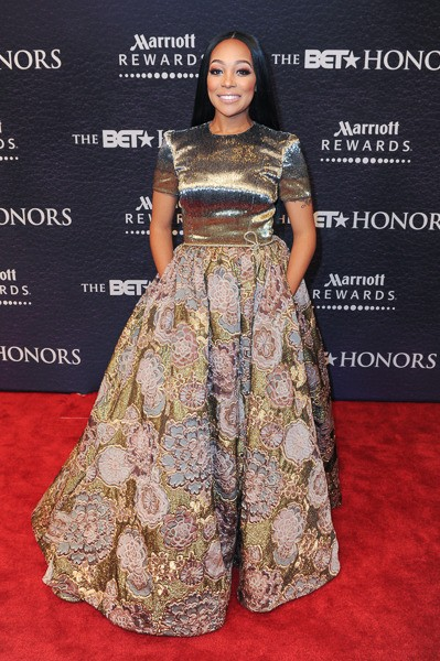 Monica Browns Attends The 2016 BET Honors In Dennis Basso1