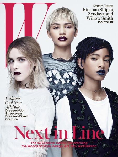 Zendaya, Willow Smith, & Kiernan Shipka For The April 2016 Issue Of W Magazine 1