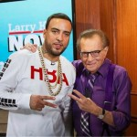 French Montana's Hood By Air Men's Detroit Rehab Long Sleeve Tee-Shirt On Larry King Now