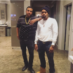 French Montana Spotted In A Givenchy Black American Flag-Print Sweater
