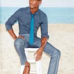 Model Hamid Onifade For Perry Ellis Menswear Spring 2016