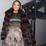 Monica Brown Attends The 2016 BET Honors In Dennis Basso Head-To-Toe