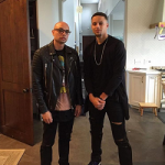 NBA Style: Step Curry Wears A WCSP Top, Saint Laurent Destroyed Stretch Denim Jeans & Fendi Blue Leather Suede High-Top Sneakers