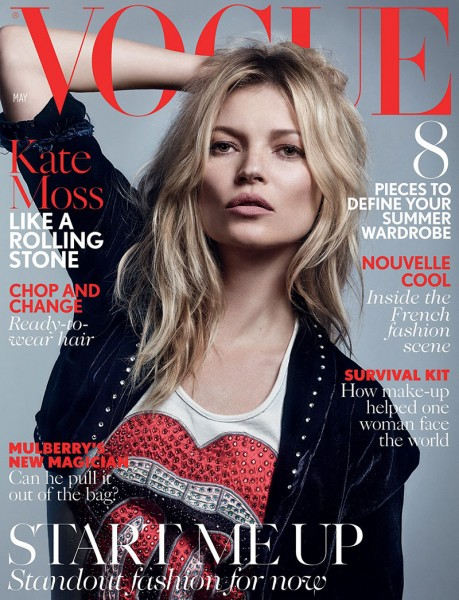 Kate Moss Covers The May 2016 Issue Of Vogue UK 1