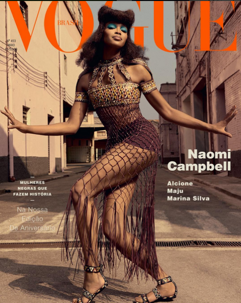 Naomi Campbell's Three Vogue Brasil Covers 1