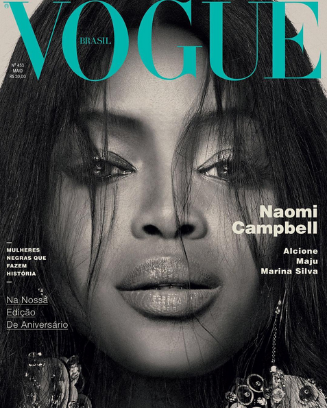 Naomi Campbell's Three Vogue Brasil Covers 3