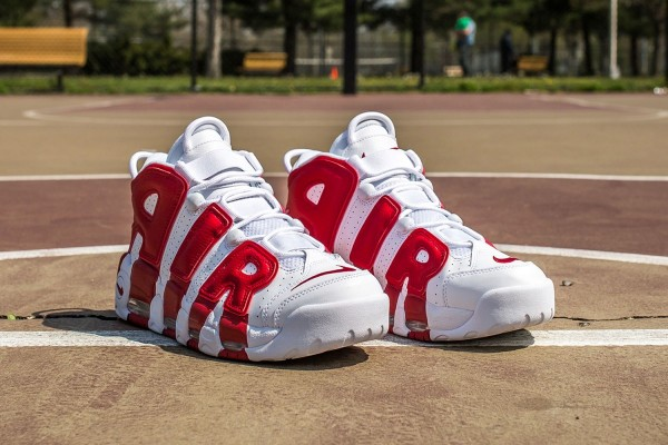 Nike Air More Uptempo In Gym Red2