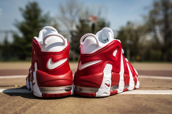 Nike Air More Uptempo In Gym Red3