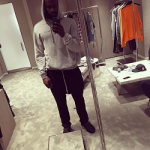 NBA Style: Shabazz Muhammad Styles In A Vetements Grey Oversized Logo Hoodie & Rick Owens Tech-Canvas Trousers