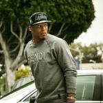 NFL Style: Cam Newton Wears A Fendi 3D Logo Printed Crewneck Sweatshirt