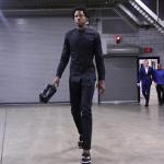 NBA Player Ed Davis Rocks Fendi Monster Slip-On Sneakers