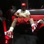 NBA Fashion: John Wall Wears A Bathing Ape Shorts & Nike Air More Uptempo In Gym Red