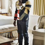 Kevin Hart Wears A Dior Homme Sweater And Saint Laurent Court Classic Sneakers