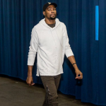 NBA Player Kevin Durant Draped In Mike Amiri