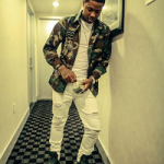 Lil Durk Rocks A Camo Jacket And A Pair Of Rick Owens Green Leather adidas Sneakers