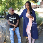 Monica Brown Styles In A Balenciaga Trench Coat & Rag And Bone Ripped Denim Jeans