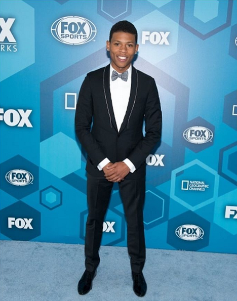 15e6e98b Rapper and actor Bryshere Y. Gray also known as Hakeem Lyon on Lee Daniel's  Empire attended FOX Up Fronts in NYC, in a Lanvin tuxedo, shirt and bow tie.