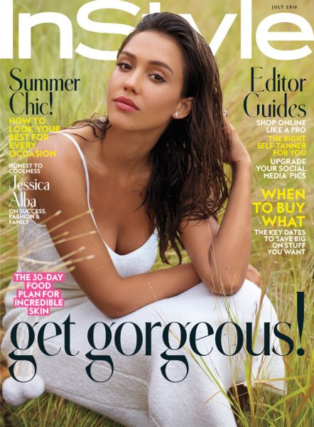Jessica Alba Covers The July 2016 Issue Of InStyle Magazine
