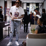 Future In A Givenchy Monkey Brothers Tee-Shirt & Balenciaga Arena High-Top Sneakers