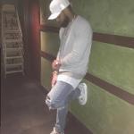 """Odell Beckham Jr. Styles In An Amiri Sweater, Jeans & Air Jordan 4 Pinnacle """"Snakeskin"""" Sneakers"""