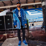 "Big Sean Wears A C2H4 ""Ice Cold"" Boro Denim Parka & Saint Laurent Destroyed Knees Stretch Denim Jeans"