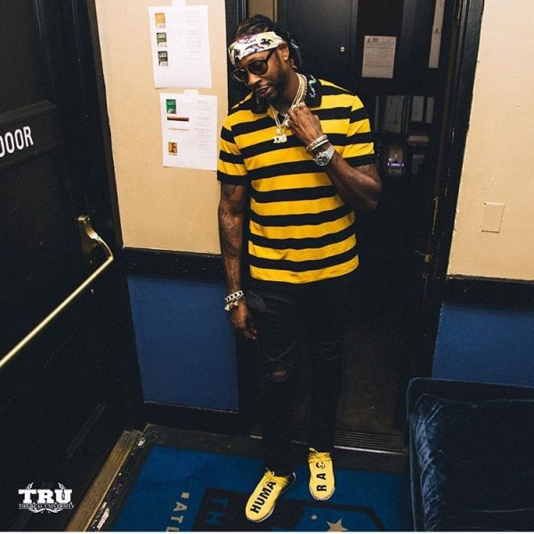 fddc0c3fcf 2 Chainz In A Gucci Cotton Polo With Snake Embroidery & adidas ...