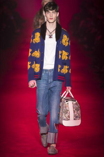 Gucci Wool Bear Cardigan With Mink Collar1