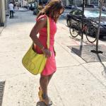 When Did She Wear Em Better? Marvet Britto In Aquazzura 'Pina Colada Appliqués' Suede Sandals