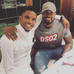 NBA Style: Serge Ibaka Spotted In A Dsquared2 Sexy Muscle Block Logo Sweatshirt