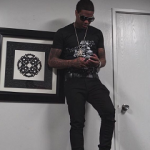 Lil Durk's Kenzo 'Tiger' Tee-Shirt & Dsquared2 Skeleton Punk Tee-Shirt