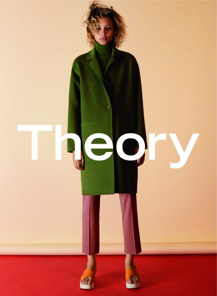 A visual from Theory's women's fall '16 campaign, shot by David Sims.