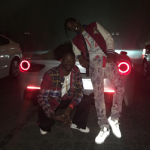 A$AP Rocky Wears A Gucci Bee Embroidered Bomber Jacket & Maison Margiela Blotchy Print Jeans