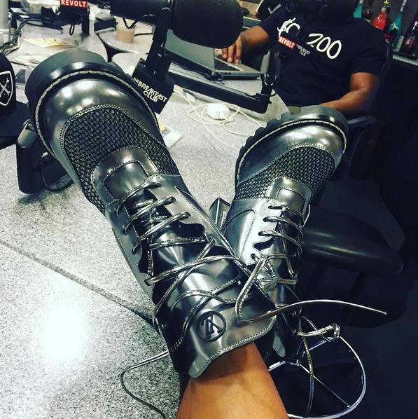 angela yee's louis vuitton boots