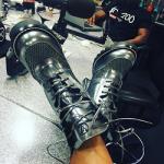 Luxury Women's Footwear: Angela Yee's Louis Vuitton Digital Gate Ankle Boots & Taraji P. Henson's Gucci Leather Studded Sandals